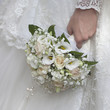 beauty wedding bouquet of yellow cream roses