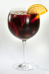 sangria with various fruits