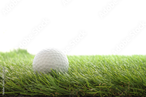 Side golf left on green grass field