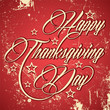 Retro design for Happy Thanksgiving Day