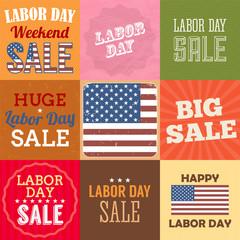 Labor day sale sign. Vector illustration