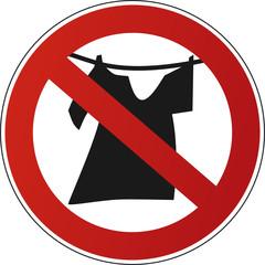 Wäsche aufhängen – Verbot
