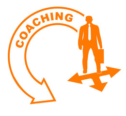 coaching flèche orange