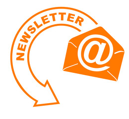 newsletter flèche orange