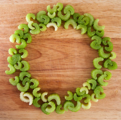 Ring of celery pieces