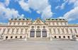 Palace facade the bottom Belvedere in Vienna, Austria