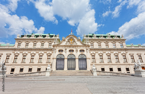 Palace facade the bottom Belvedere in Vienna, Austria