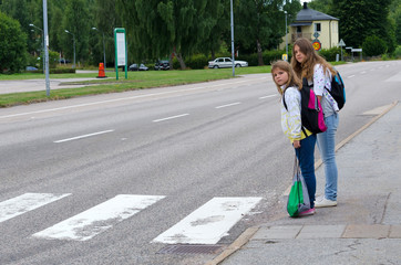 Street safety on the school way