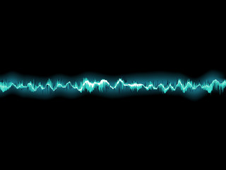 Sound waves oscillating on black. EPS 10