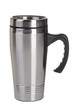 Leinwandbild Motiv Shiny black Metal travel thermo-cup