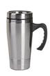 Leinwanddruck Bild - Shiny black Metal travel thermo-cup