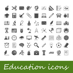 Education icons. Vector illustration.