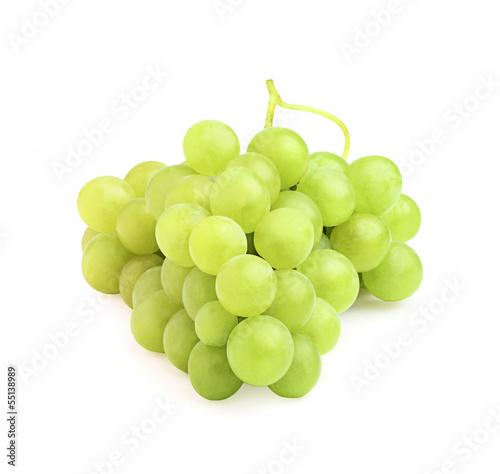 Ripe white grapes.