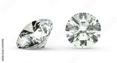Leinwandbild Motiv Round Cut Diamond