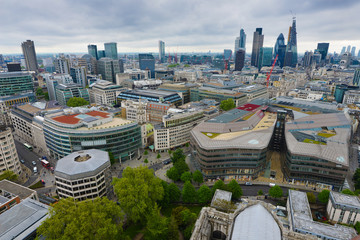 London City Landscape. View from tower.