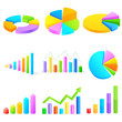 vector illustration of different colorful business graph