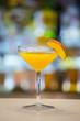 Misty Peak cocktail on a bar
