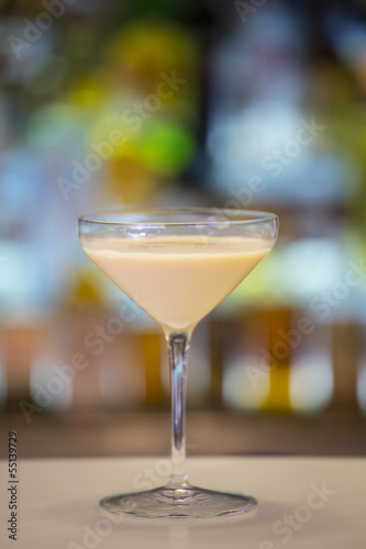 Alexander cocktail on a bar