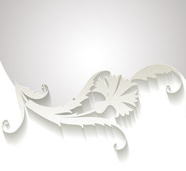 Origami Karanfil İllustrasyonu