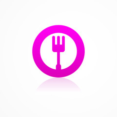 kitchen fork icon web