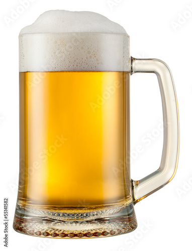 beer mug isolated. With clipping path