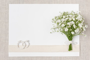 Wedding decor in ecological style