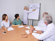 Arzt bei Präsentation im Team