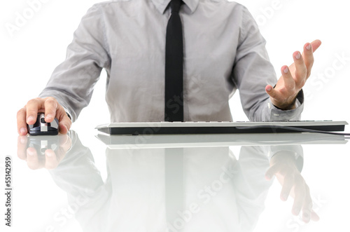 Frustrated gesture of businessman