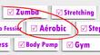 Etiquette Choix Sport Fitness : Aérobic