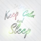 Keep Calm and Sleep Typography poster