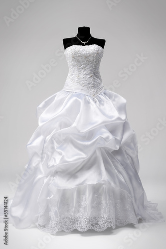 Wedding dress on a mannequin