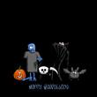 plakat halloween X
