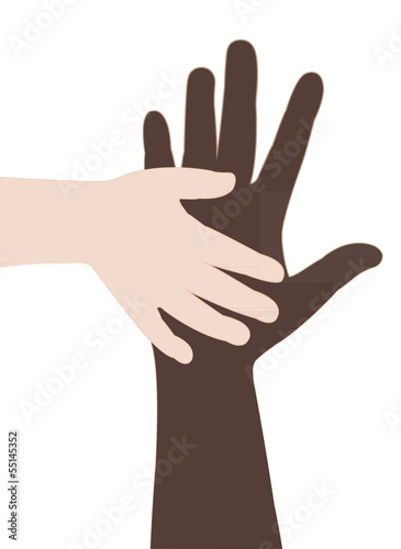 two hands, helping hands vector