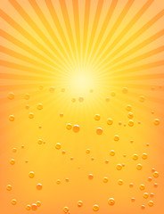 Sun Sunburst Pattern with water drops