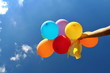 Colourful Balloons in the Blue Sky