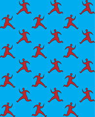 Running man pattern