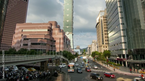 Taipei city center traffic time lapse