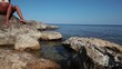 coast of Black Sea in Crimea Tarhan Qut