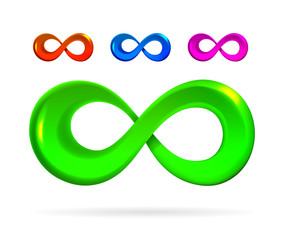 The symbol of infinity.