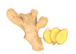 fresh ginger and slices