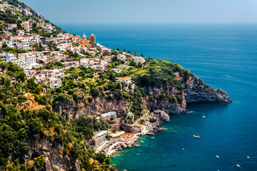 View of Praiano. Amalfi coast, southwest Italy.