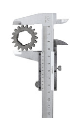 Vernier caliper measures the gear
