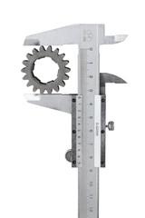 Vernier caliper measures the gear