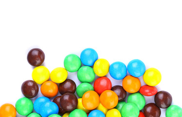 group of colored chocolate balls