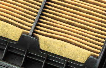Closeup of a Used Air Filter Cartridge