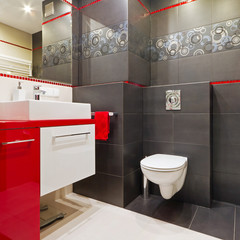 Modern bathroom interior
