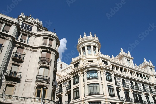 Madrid, Spain - architecture at Gran Via street
