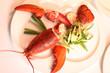 Hummer und Gemüsebeilage
