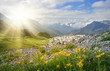 Leinwanddruck Bild - Mountains landscape