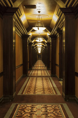 Long Art Deco Corridor